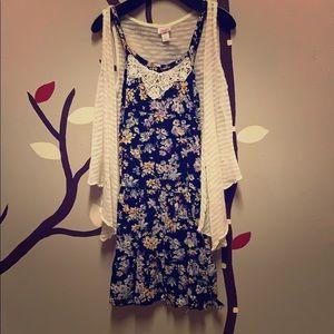 Girls Dress With Cardigan☀️
